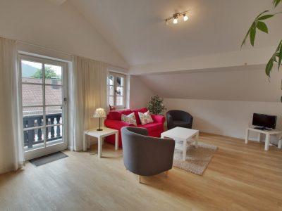 Ferienwohnung C Wohnzimmer 2 - Hotel Fux oberammergau