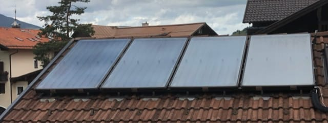 Brauchwasser mit Solarenergie - Hotel Fux Oberammergau