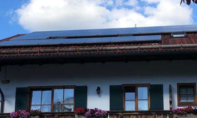 Strom mit Photovoltaik - Hotel Fux Oberammergau